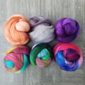 Custom dyed fiber for The Shift