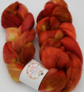 Falkland wool top: Fire Starter -- Custom 7oz