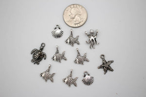 Charms Pack: Sealife - Silver