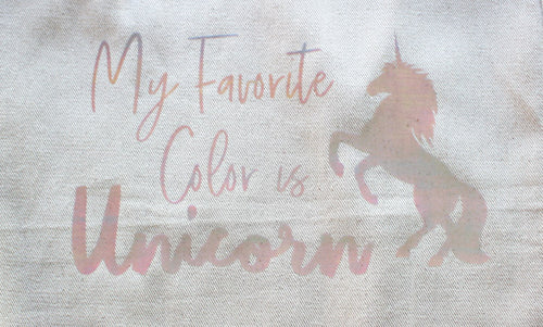 Tote Bag: My Favorite Color is Unicorn