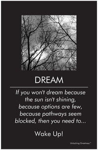 Unlocking Greatness® Inspirational Poster [Dream]