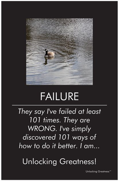 Unlocking Greatness® Inspirational Poster [Failure]