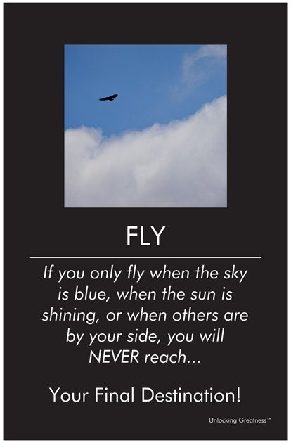 Unlocking Greatness® Inspirational Poster [Fly]