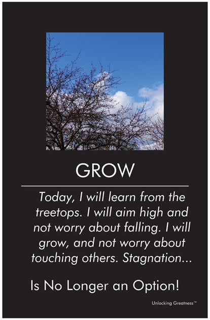 Unlocking Greatness® Inspirational Poster [Grow]
