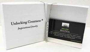 Unlocking Greatness® Unbreakable Necklace +Beautiful Card