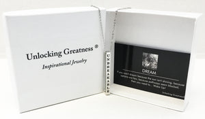 Unlocking Greatness® Unbreakable Necklace +Dream Card