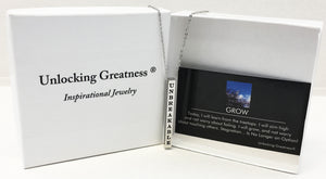Unlocking Greatness® Unbreakable Necklace +Grow Card