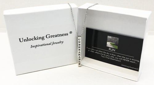 Unlocking Greatness® Unbreakable Necklace +Run Card