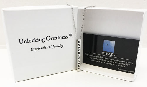 Unlocking Greatness® Unbreakable Necklace +Tenacity Card