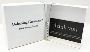 Unlocking Greatness® Unbreakable Necklace +Thank You Card