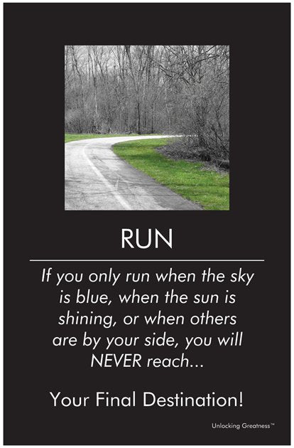 Unlocking Greatness® Inspirational Poster [Run]
