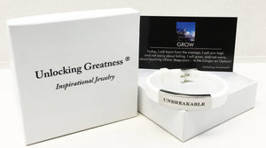 Unlocking Greatness® Unbreakable Bracelet +Grow Card