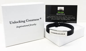 Unlocking Greatness® Unbreakable Bracelet +Beautiful Card