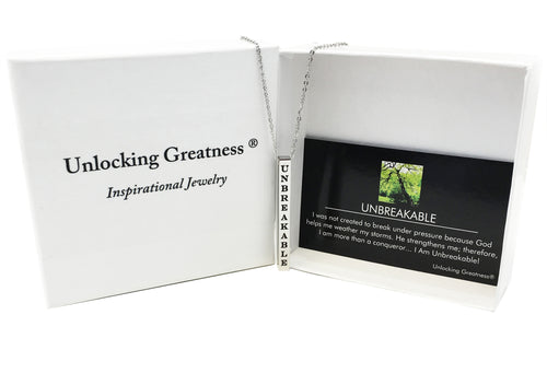 Unlocking Greatness® Unbreakable Necklace +Unbreakable Card
