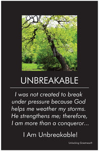 Unlocking Greatness® Inspirational Poster [Unbreakable]