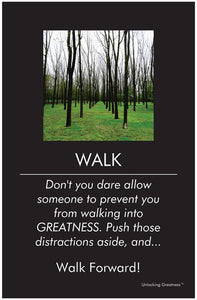 Unlocking Greatness® Inspirational Poster [Walk]