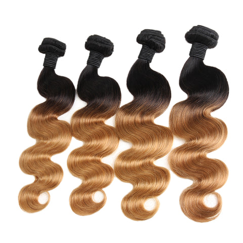 Bestsojoy 1b 27 Ombre Brazilian Body Wave 4 Bundles Brazilian Ombre Hair Wave Bundles