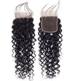 Bestsojoy 10A Malaysian Water Wave 3 Bundles With Closure Remy Human Hair Bundles With Closure Malaysian Hair Bundles With Closure