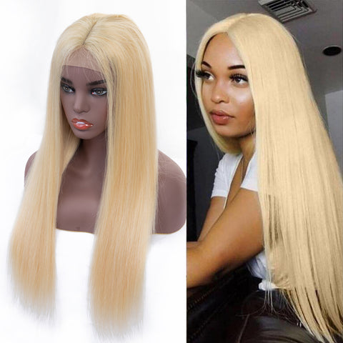Bestsojoy 613 Human Hair Blonde Brazilian Straight Lace Front Wigs For Black Women Density 180% 613 Blonde Lace Frontal Wig