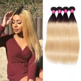 Bestsojoy 1b 27 Ombre Peruvian Straight Virgin Hair 4 Bundle Deals