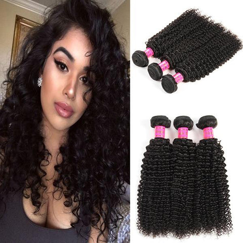 Bestsojoy 10A Brazilian Deep Curly Human Hair 3 Bundles 100% Unprocessed Brazilian Curly Hair Weave Bundles