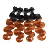 Bestsojoy 1b 30 Ombre Brazilian Body Wave 4 Bundles Ombre Brazilian Hair Wave Bundles