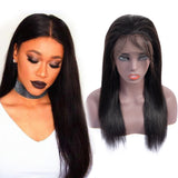 Bestsojoy 10A Grade Brazilian Lace Frontal Wig Straight Lace Front Human Hair Wigs Density 150% Virgin Hair Wigs Full End Natural Color