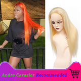 Andre Cavasier Recommended 613 Blonde Straight Human Hair Lace Frontal Wigs Blonde Straight Hair Lace Front Wig For Black Women