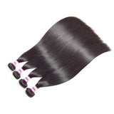 Bestsojoy Peruvian Virgin Hair Straight Hair 4 Bundle Deals Unprocessed Peruvian Human Hair Weave Bundles