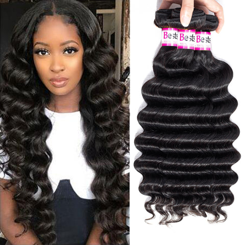 Bestsojoy 10A Brazilian Virgin Hair Loose Deep 4 Bundles 100% Unprocessed Brazilian Loose Deep Human Hair Weave Bundles