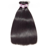 Bestsojoy 10A Indian Straight Hair 3 Bundles With Closure Full And Soft Indian Human Hair With Closure