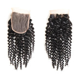 Bestsojoy 10A Brazilian Deep Curly 3 Bundles With Closure Soft Brazilian Human Curly Hair With Closure