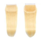 Andre Cavasier Recommended 613 Blonde 3 Bundles With Closure Straight Human Hair Bundles With Closure Free Part Closure