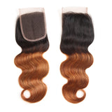 Bestsojoy 1b 30 Ombre Peruvian Body Wave 3 Bundles With Closure Ombre Peruvian Hair Wave Bundles