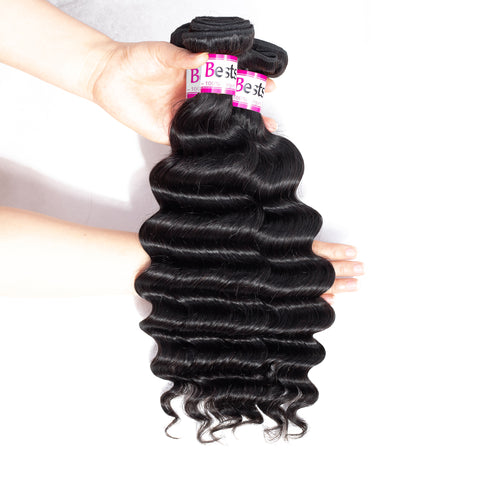 Bestsojoy 10A Malaysian Virgin Hair Loose Deep Wave 4 Bundles Malaysian Loose Deep Wave Human Hair Weaves