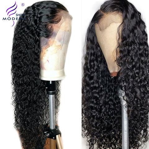 Brazilian Water Wave Wig 13*4 Lace Front Human Hair Wigs Pre Plucked Natural Hairline 150% Virgin Hair Wigs Modern Show Hair