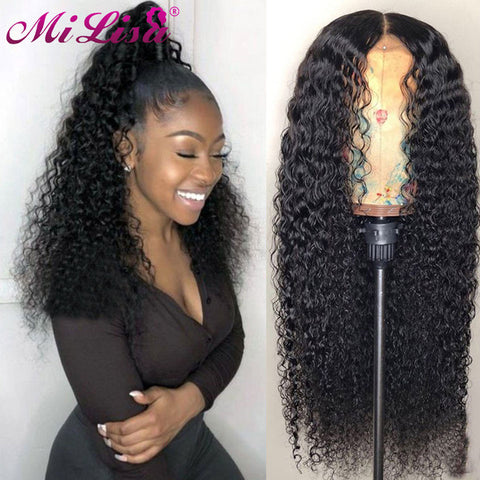 Curly Human Hair Wigs Pre Plucked With Baby Hair Mi Lisa Virgin Peruvian Wigs Glueless Lace Front Human Hair Wigs For Black Women