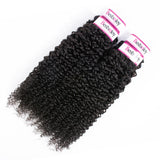 Bestsojoy Brazilian Kinky Curly Hair 3 Bundles 100% Unprocessed Brazilian Virgin Hair Curly Hair Weave Extensions