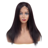 Bestsojoy Peruvian Lace Frontal Wig Straight Lace Front Human Hair Wigs Virgin Hair Wigs Full End Natural Color