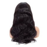 Bestsojoy Peruvian Body Wave Lace Frontal Human Hair Wigs For Women Pre Plucked Hairline  8-26 Inch Remy Hair Natural Color