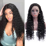 Bestsojoy Water Wave Human Hair Lace Frontal Wigs PrePlucked Hairline 8-26 Inch Remy Hair Natural Color