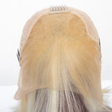 Bestsojoy 613# Blonde Peruvian Human Hair Lace Frontal Wigs Density 150% Straight 613 Blonde Lace Frontal Wig