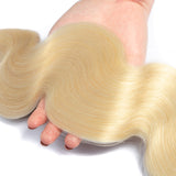 Bestsojoy 613 Blonde Body Wave Hair 3 Bundles With Closure Blonde Human Virgin Hair Weave Bundles