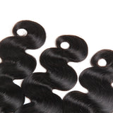 Bestsojoy Brazilian Virgin Hair Body Wave 4 Bundle Deals With 4*4 Lace Closure Brazilian Human Hair Extensions