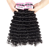 Bestsojoy 10A Malaysian Virgin Hair Deep Wave 4 Bundles Malaysian Deep Wave Human Hair Weaves