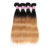 Bestsojoy 1b 27 Ombre Brazilian Straight 4 Bundles Ombre Brazilian Hair Wave Bundles