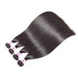 Bestsojoy Peruvian Virgin Hair Straight 4 Bundle Deals With Lace Closure Peruvian Human Hair Weave