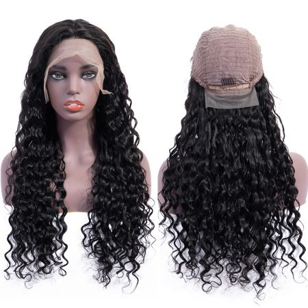 Bestsojoy 10A Brazilian Virgin Hair Water Wave Full Lace Human Hair Wigs 13*4 Water Wave Lace Frontal Human Hair Wigs