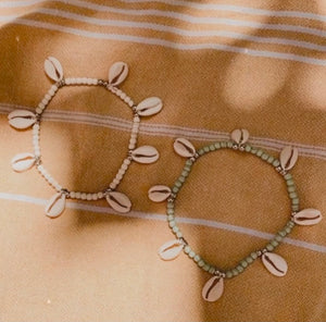 WANDERLUST COWRIE ANKLET (IVORY)