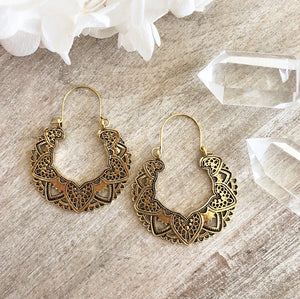 KAYUNA BRASS EAR HOOPS